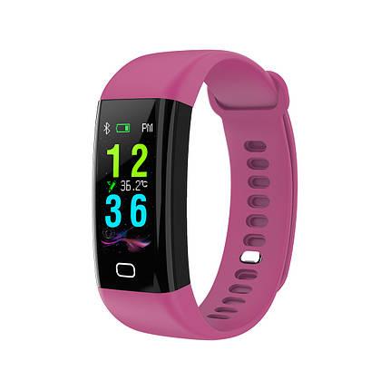Умный фитнес браслет Lemfo F07 Health с измерением температуры (Фиолетовый), фото 2