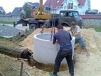 Установка колодцев канализационных в Киеве