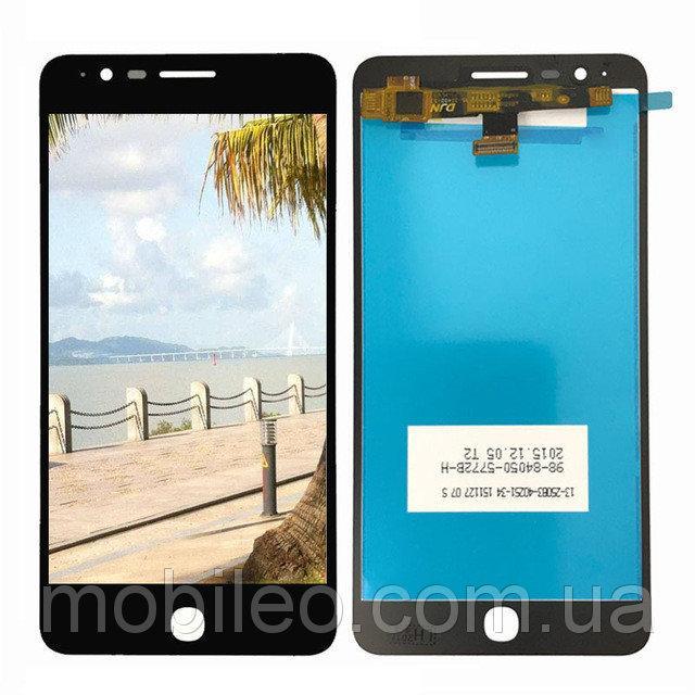Дисплей (LCD) Alcatel 6044 One Touch Pop Up (5.5) | 6044D | 6044E | 6044G з тачскріном, чорний
