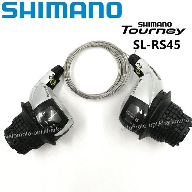 Ревошифт Shimano Tourney SL-RS45-6 RevoShift, 3x6 скоростей, индекс SIS