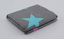 Дитячепростирадлона резинці - Бірюзові зорі, низ