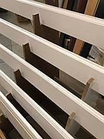 Плінтус мдф Шпонований фарбований білий 80х16 мм, фото 1