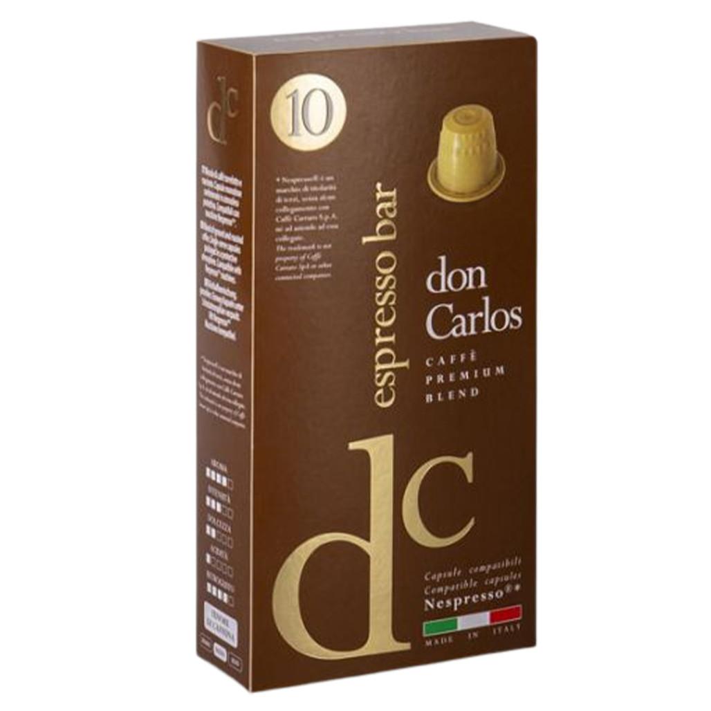 """Кофе в капсулах Carraro Don Carlos """"Espresso Bar""""  10 шт."""