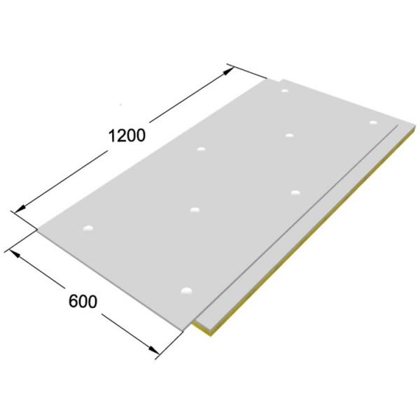 ЗИПС-Вектор, сэндвич-панель 600х1200х40мм / 0,72м2, с комплектом крепления