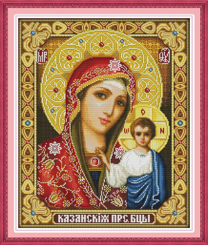 Божья матерь R266/4 Набор для вышивки крестом с печатью на ткани 14ст