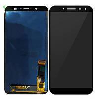 Дисплей (LCD) Samsung J800 Galaxy J8 (2018) | J810 On8 Amoled з тачскріном, чорний, сервісний оригінал