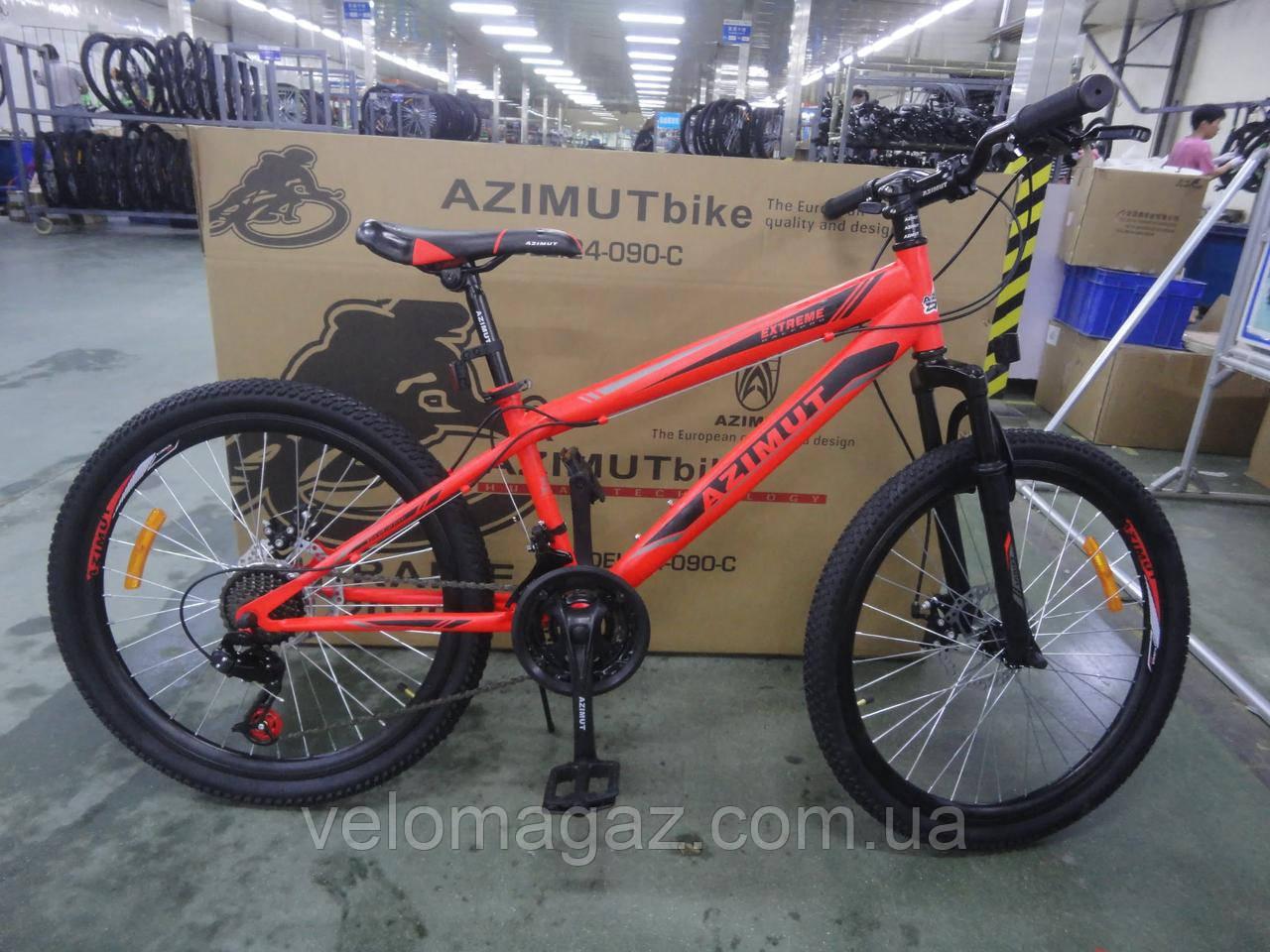 "Велосипед горный Extreme Azimut FRD колеса 24"", стальная рама 13"""