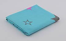 Дитяче простирадлона резинці - Бірюзові зорі, верх