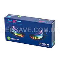 Перчатки нитриловые синие размер M - Care365 Premium смотровые одноразовые медицинские неопудреные