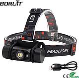 Налобный фонарь Boruit RJ-020 350LM с плавной регулировкой света USB + Датчик движения (аналог Nitecore HC50), фото 3