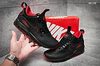 Мужские весенние кроссовки Nike Air Max 90 Ultra Mid (черно-красные) KS 216 повседневная спортивная обувь