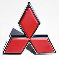 Mitsubishi Galant 1992-1998 рр. Емблема червона (47мм по стороні, 43мм висота)