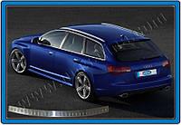 Audi A6 C5 1997-2001 гг. Накладка на задний бампер (AVANT, нерж.) Глянец
