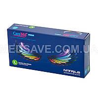 Перчатки нитриловые синие размер L - Care365 Premium смотровые одноразовые медицинские неопудреные