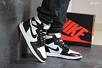 Мужские демисезонные кроссовки Nike Air Jordan 1 Retro High OG (черно/белые) повседневная обувь KS 1149