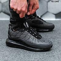 Мужские термо кроссовки Nike Air Max AM720-818 (серые) KS 1342 весенние спортивные кроссы