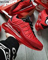 Мужские термо кроссовки Nike Air Max AM720-818 (красные) KS 1341 весенние спортивные кроссы
