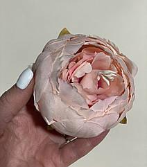 Головка пиона искусственного 8 см нежно- розовый