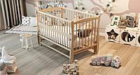 """Дитяче ліжечко Дубик-М """"Еліт """" різьба натуральне з відк.боковинкою., фото 1"""