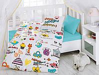 """Детское постельное бельё в кроватку Cotton Box ранфорс """"Mutlu Bebek"""""""