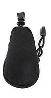 Тактическая сумочка / ключница текстиль оксфорд внутри ланьярд с металлическим кольцом ЧЁРНЫЙ
