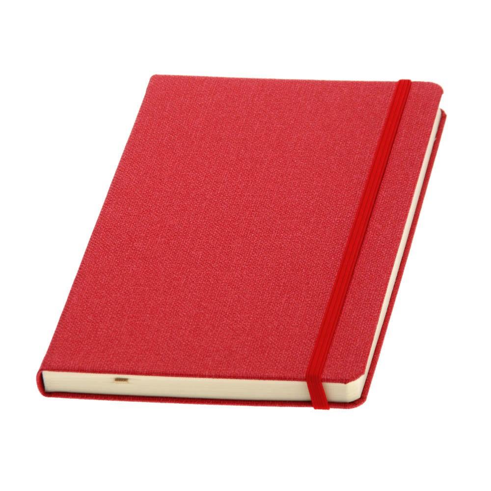 Записная книжка DELFI, А5, кремовый блок в точку. Пр-во Италия. 4 цвета.