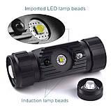Налобный фонарь Boruit RJ-020 350LM USB+IR датчик (аналог Nitecore HC50) + Panasonic 18650 аккумулятор 3400mAh, фото 7
