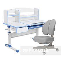 Комплект для школьника парта Cubby Rimu Blue + ортопедическое кресло для подростков FunDesk Contento Grey, фото 3