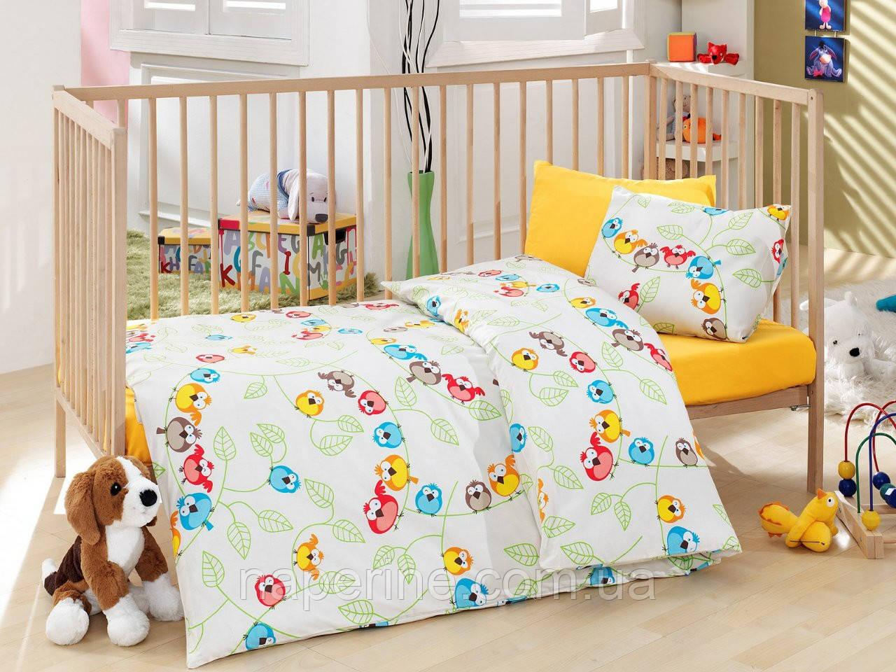 """Детское постельное бельё в кроватку Cotton Box ранфорс """"Cik Cik"""""""