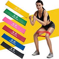Фитнес резинки, Фитнес резинки (5 шт.+ чехол), Ленты сопротивления, Резинки для фитнеса