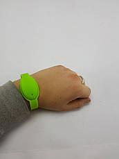 Универсальный силиконовый браслет для антисептика (ЗЕЛЕНЫЙ), фото 2