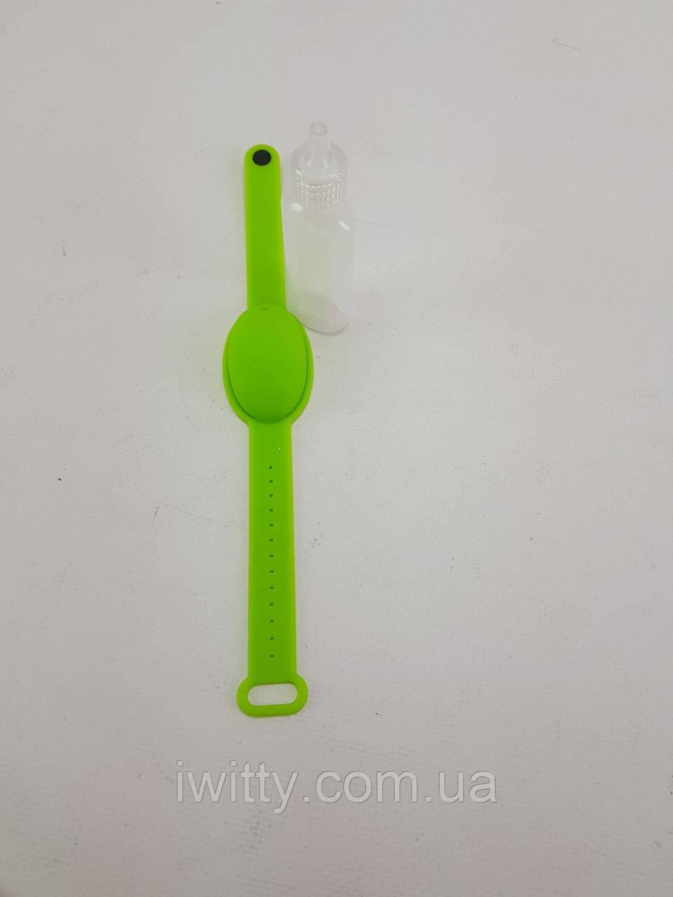 Универсальный силиконовый браслет для антисептика (ЗЕЛЕНЫЙ)