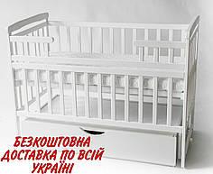 Детская кроватка-трансформер с шухлядой DeSon Лодочка