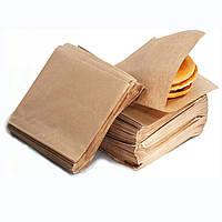 Пакет бумажный, крафт, для бургера, уголок, 140х140 мм, 100 шт/уп