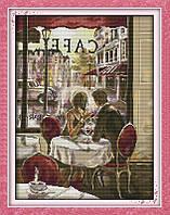 Завтрак в Париже R519 Набор для вышивки крестом с печатью на ткани 14ст