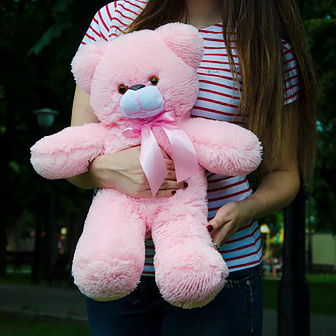 Плюшевые медведи: Плюшевый медвежонок Рафаэль 0,5 метра (50 см), Розовый