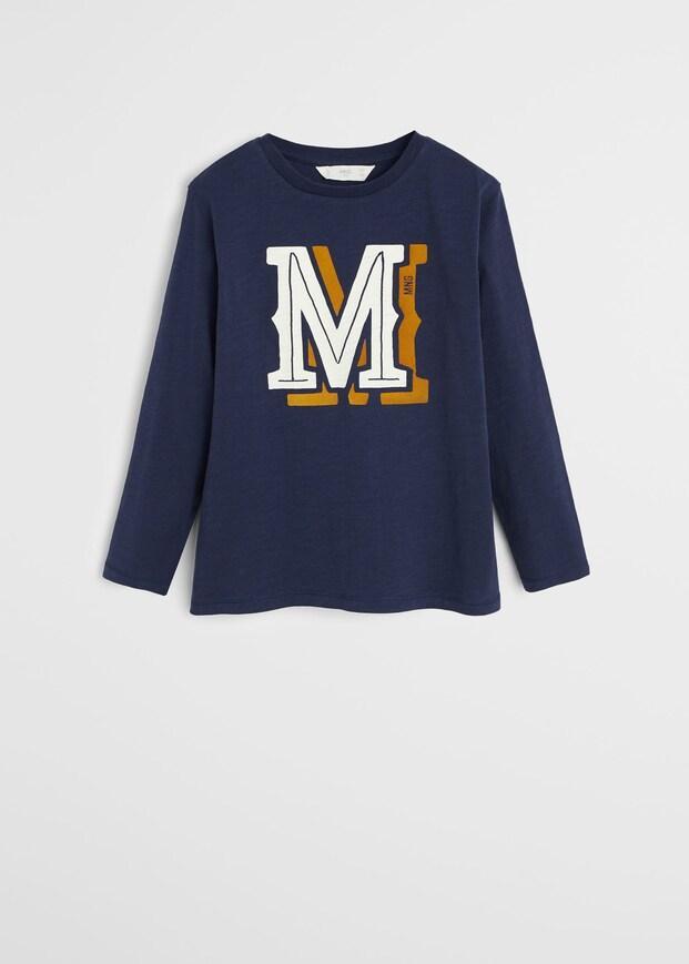 Стильний темно-синій реглан з логотипом для хлопчика Maнго