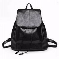 Женский рюкзак, черный рюкзак из эко-кожи 2021 AL-6899-10