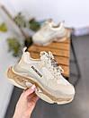 Мужские кроссовки Balenciaga Triple S clear sole Beige, фото 5