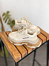 Мужские кроссовки Balenciaga Triple S clear sole Beige, фото 2