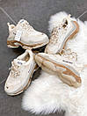 Мужские кроссовки Balenciaga Triple S clear sole Beige, фото 6