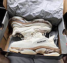Мужские кроссовки Balenciaga Triple S clear sole Beige, фото 7