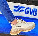 Мужские кроссовки Balenciaga Triple S clear sole Beige, фото 4