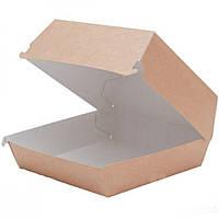 Упаковка для бургера L, крафт, 140x140x70мм, DoECO, 1 шт