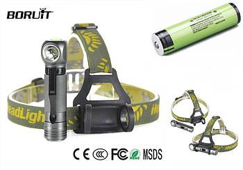 Налобный фонарь Boruit XPL V5 1000LM, 3 Режима (аналог Nitecore HC33) + Panasonic 18650 аккумулятор 3400mAh