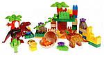 """Конструктор для малышей с большимы деталями JDLT 5069 """"Динозавры"""" 73 детали, фото 2"""