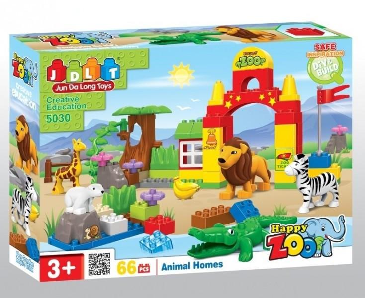 Конструктор для малышей с большимы деталями JDLT 5030 Зоопарк