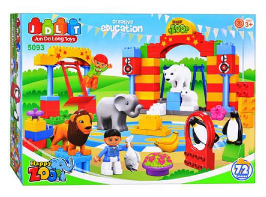 Конструктор для малышей с большимы деталями JDLT 5093 Зоопарк