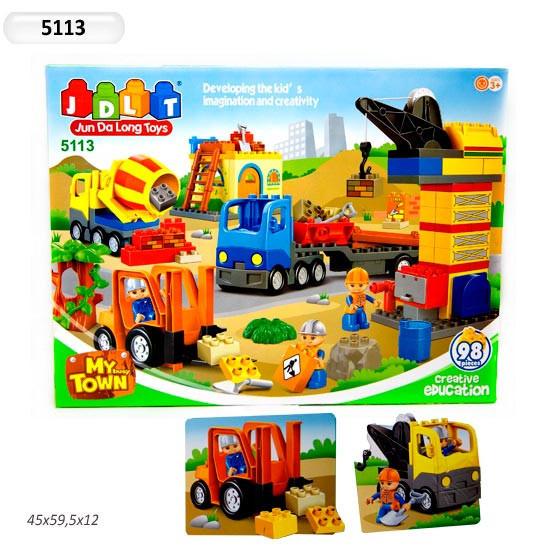 Конструктор для малышей с большимы деталями JDLT 5113 Стройплощадка