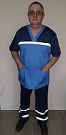 Мужская форма Скорой помощи ткань коттон короткий рукав
